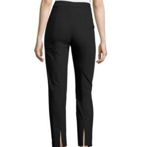 St. John Caviar Alexa high waist cropped pant